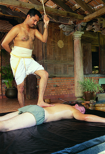 Ayurveda Fuß-Massage in Kerala