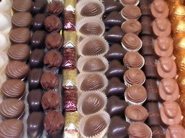 Beliebtestes Mitbringsel aus Europa: Schokolade!